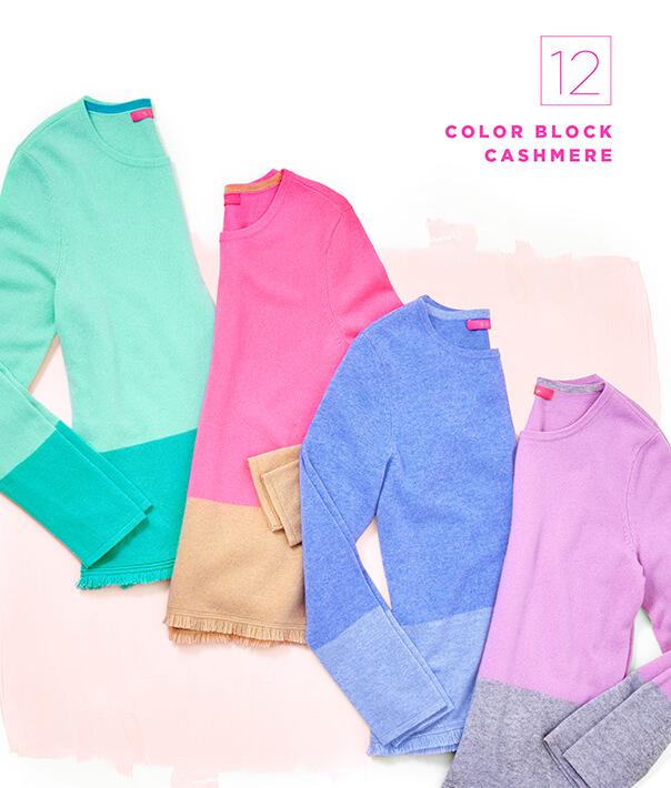 Gift Guide 2018: Color Block Cashmere,