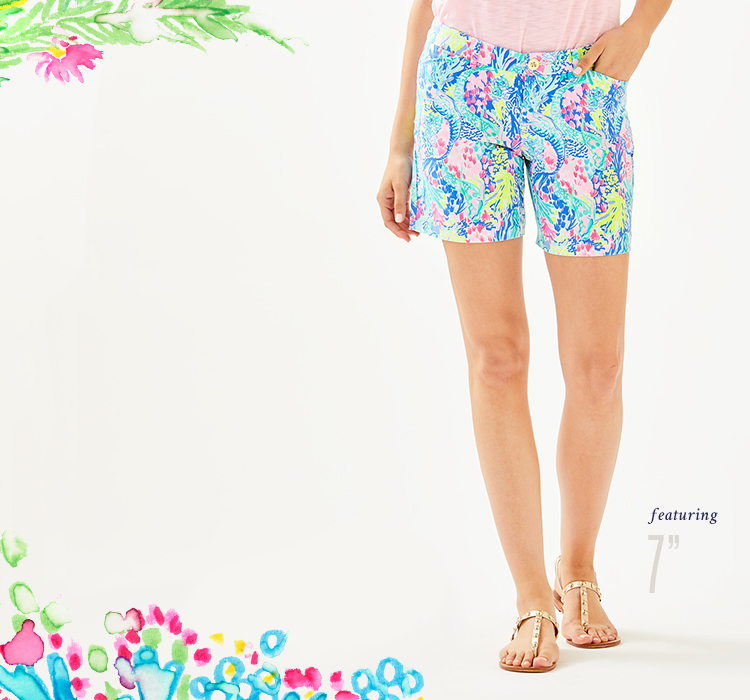 45dcce12b684cf Women's Shorts: Solid & Printed Beach Shorts | Lilly Pulitzer