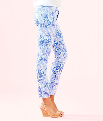 Kelly Knit Skinny Ankle Pant Blue Peri Turtley Awesome