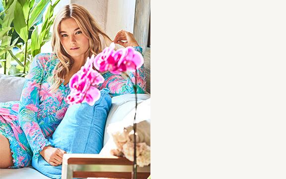 Lilly model wearing Pajamas