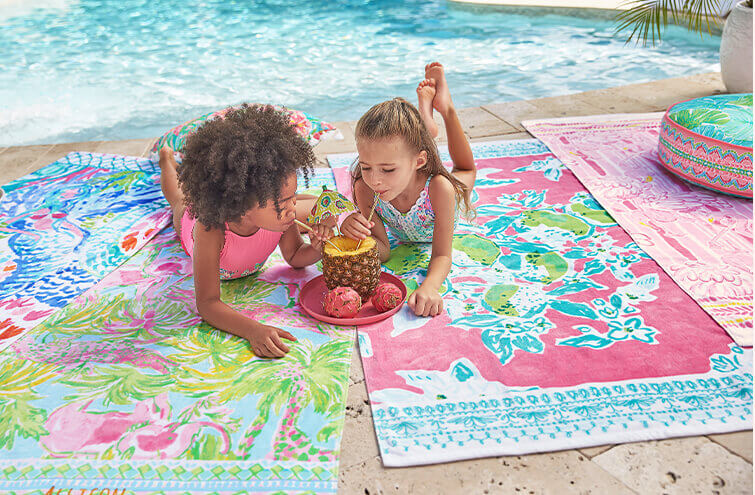 Lilly Pulitzer Pottery Barn Pool Towels