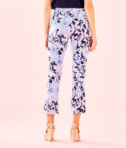 Kelly High Rise Crop Flare Bright Navy Amore Please