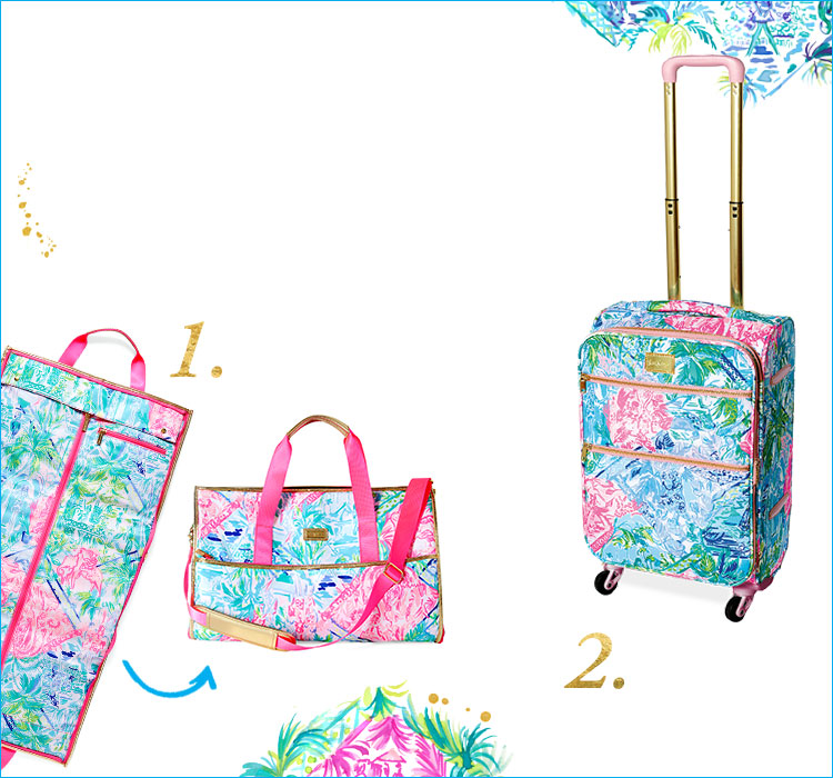 Convertible Weekender Bag and Rolling Suitcase