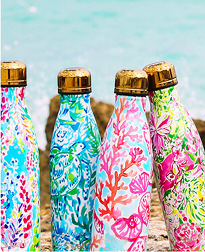 Printed swell bottles