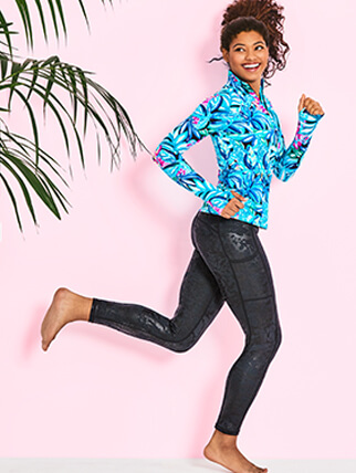 Lilly model wearing Activewear and Lounge