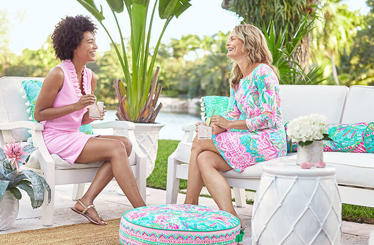 Lilly Pulitzer Pottery Barn Outdoor Patio