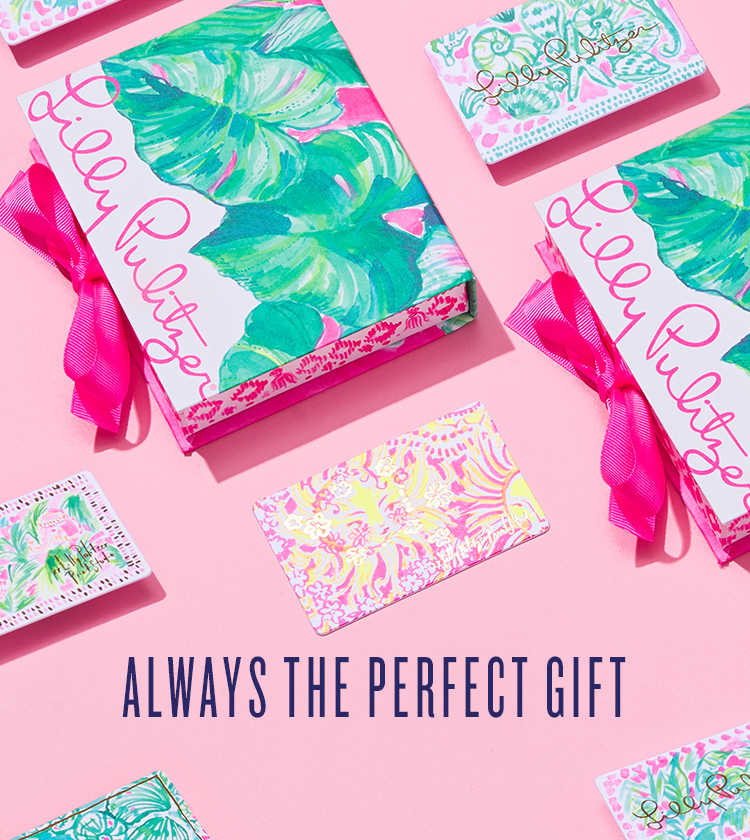 Laydown Of Lilly Pulitzer Gift Cards And Gift Card Boxes